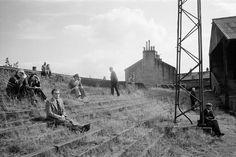 Magnum Photos Photographer Portfolio.  Martin Parr GB. England. West Yorkshire. Halifax. Halifax Rugby League Club ground. 1977.