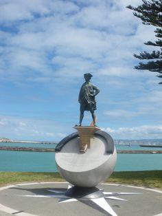 Captain Cook statue, Gisborne, New Zealand
