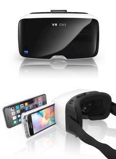 ZEISS VR One. The VR One headset from ZEISS brings a taste of virtual & augmented reality to the your iPhone or Android smartphone. Based on similar designs of the much more costly Oculus Rift & Samsung's Gear VR device it's a headset that mounts to your phone offering enhanced 3D viewing for photos & video. Pre-order now for your iPhone 6 and Galaxy S5. More phone mounts coming in early 2015. $99