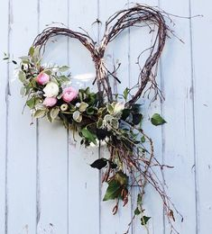 A silver birch heart dressed with seasonal spring flowers and foliage for an April wedding. by Tuckshop Flowers, Birmingham wedding fall ideas / april wedding / wedding color pallets / fall wedding schemes / fall wedding colors november Wedding Wreaths, Wedding Decorations, Spring Decorations, Wedding Heart Wreath, Twig Wedding Centerpieces, Outdoor Decorations, Valentine Decorations, Deco Floral, Diy Décoration
