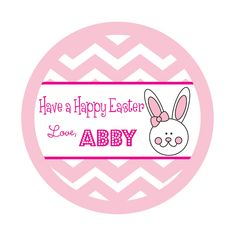 Personalized Stickers,Chevron stickers,Easter,Kids, Baby, Party, Favor stickers,Personalized Sticker Labels Set of 24. $6.05, via Etsy.
