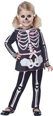 Itty Bitty Bones Skeleton Toddler Girls Halloween Costume