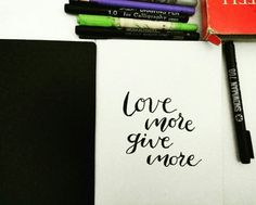 Be more with love and give the best you can