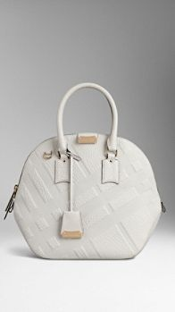 The Medium Orchard in Embossed Check Leather | Burberry