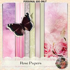 Nisan 11 and Rose Free Digital Scrapbooking, I Card, Wings, Rose, Creative, Pink, Feathers, Roses, Feather