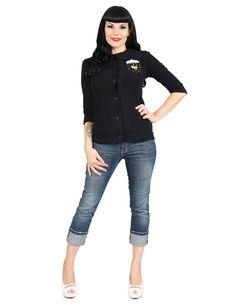 YOU PICKED IT! Black Cropped Umbrella Cardigan - S-3X