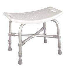 Drive Deluxe Bariatric Bath Bench - Without Back by Drive. $52.64. Drainage holes in seat reduce slipping..  . Adjustable height legs.. Product DescriptionWith a 500-pound weight capacity, this bariatric bath bench from Drive Medical is strong and sturdy. A cross brace attached with aircraft style rivets provides dependable strength. The blow molding on the seat are contoured to provide extra comfort. Drainage holes in the seat reduce slipping, while adjustable height...