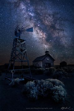 Oregon Homestead under the Milky Way by  Rick Parchen