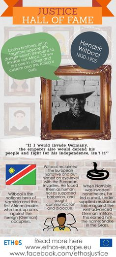 New day, new justice hero! This week we would like to introduce you to Hendrik Witbooi, national hero of Namibia!