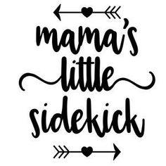 Silhouette Design Store: mama's little sidekick