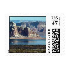 Lake Powell beautiful scenery Stamp