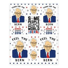 Show off your love for your favorite Democratic presidential candidate with this hilarious, patriotic, POTUS inspired, campaign shirt parody, Bernie Sanders sticker sheet! FEEL THE BERN!