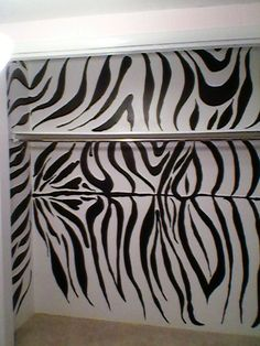 Did a Hot pink, with Zebra stripe accent in Daughters room. This is the closet. She LOVED IT!