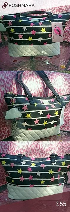 ☆Betsey Johnson☆ Brand NEW tote bag with tags Betsey Johnson ♡ full zip closure no shoulder strap (why im selling) each listing comes with THREE FREE goodies thanks for peeking thru my closet also bundle this with the matching cross body for an AMAZING deal. Betsey Johnson Bags Totes