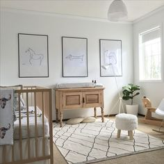Scandinavian Nursery gender neutral nursery Baby nursery Babies Room - Before After DIY Baby Bedroom, Baby Boy Rooms, Baby Room Decor, Baby Boy Nurseries, Nursery Room, Horse Nursery, Baby Room Art, Playroom Decor, Baby Room Design