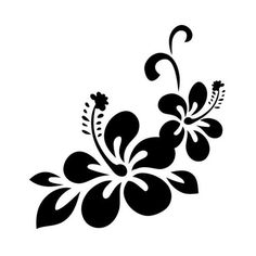 Stencil Patterns, Stencil Designs, Paint Designs, Art Floral, Motif Floral, Hawaiian Flowers, Hibiscus Flowers, Rose Stencil, Hand Painted Dress