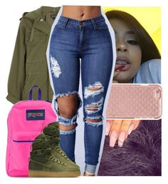 """""""still in the trap but i like my shawty bougie """" by theyknowtyy ❤ liked on Polyvore featuring Topshop, JanSport, Tory Burch and NIKE"""