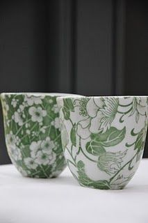 Samantha Robinson's Tea Cups - i love the green and the flowers on white.  :)