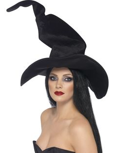 Ding dong, the witch isn't dead! Complete your Halloween costume with Smiffys Tall and Twisty Witches Hat fancy dress accessory. Witch Fancy Dress, Fancy Dress Hats, Fancy Dress Accessories, Halloween Fancy Dress, Costume Accessories, Halloween Fun, Halloween Costumes, Witch Costumes, Halloween Witches