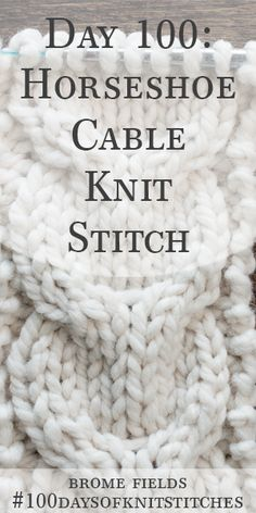 Day Learn How To Knit The Horseshoe Cable Knit Stitch & tag lernen sie, wie man den hufeisen-zopfmusterstich strickt & journée apprenez à tricoter la maille torsadée en fer à cheval Cable Knitting Patterns, Knitting Videos, Easy Knitting, Knitting For Beginners, Knitting Stitches, Knitting Designs, Knitting Tutorials, Knitting Squares, Crochet Patterns