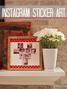 DIY Instagram Sticker Art | www.insta-pin.com #instapin