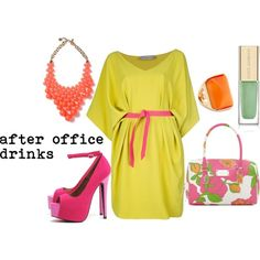 after office drinks, created by marcheeya on Polyvore