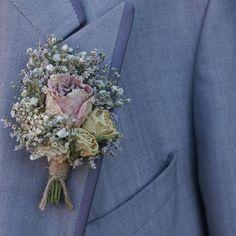 Blush Rose Garden Buttonhole