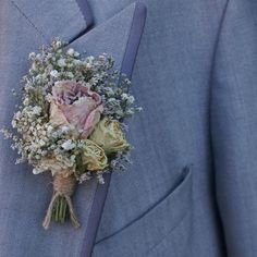 Blush Rose Garden Buttonhole