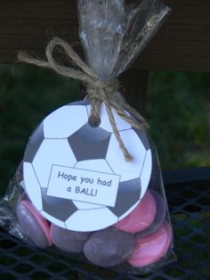 Soccer party favor tags with bags set of 10 soccer by PagesbyNat