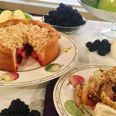 Phil Vickery's deep dish apple and blackberry crumble cake