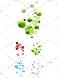 Set with molecules vector illustration icons, isolated on white background This archive contains editable .eps vector format version) and high resolution Vector Can, Vector Format, Eps Vector, Falcon Logo, Pharmacy, Chemistry, Color Change, Create Your Own, Greeting Cards