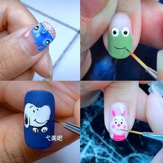 New Nail Art 2020 The Best Nail Art Designs Compilation Here are some of the most beautiful nails art Kawaii Nail Art, Cat Nail Art, Animal Nail Art, Minion Nail Art, Nail Art Designs Videos, Best Nail Art Designs, Diy Nail Designs Step By Step, Nail Art Tutorials, Simple Nail Art Videos
