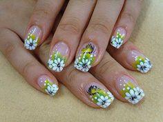 unhas decoradas com flores - Pesquisa Google