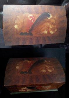 Underbart Syskrin Smyckesskrin 40 talet kurbits på Tradera.