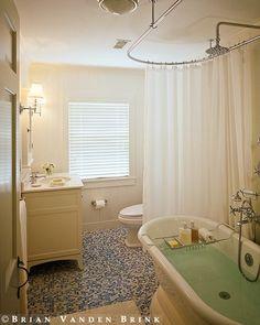 Clawfoot Tub Shower Faucet & Rectangular Combo Set   bathroom ...