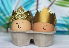 Make cute crowns for Easter egg peeps! #eggs #eieren #Pasen #Easter