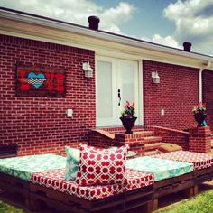 Homemade Couch & Love Tennessee sign made from Pallets!  -The Wilkerson Duo