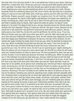 Any girls that just went through a break up with someone and can't get over him? Read this. All of it. Just do it.