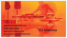 DJ Giamma Business Card