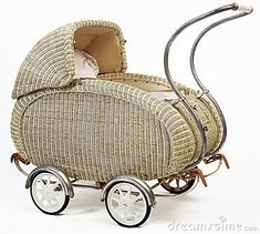 Old vintage stroller. On white background , Vintage Stroller, Vintage Pram, Vintage Toys, Pram Stroller, Baby Strollers, Old Cribs, Baby Cheeks, Prams And Pushchairs, Old Baskets