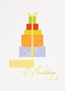 Presents stacked high and with flair, a fancy gold-lined birthday card with urban appeal, available as a selection from Greeting Card Collection. - See more at: http://greetingcardcollection.com/products/shop-by-category-birthday/2467-birthday-flair#sthash.OSc5KVys.dpuf
