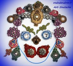 Soutache earrings bright, sweet and sexy - Colour of Dream. $20.00, via Etsy.  Rhododendron7
