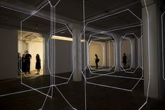 Meagan Streader's geometric installation 'W-inter' combines architecture and light art.