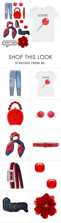 """""""Flamet's Collection - No. 9"""" by valorievelocity ❤ liked on Polyvore featuring MANGO, Loewe, Nancy Gonzalez, Dsquared2, Gucci and Kate Spade"""