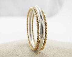 Set of 3 Stackable  Rings 1 Polished by LittleSomethingsAnn, $35.95