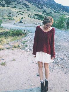 Throw a sweater over a dress and add booties for an effortlessly chic look