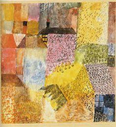1915 Bewachsene Häuser (Overgrown houses) by Paul Klee