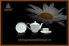 Bộ Trà Cao cấp - Gốm Sứ Minh Long 1: Bộ trà 0.45L Daisy (nhỏ) 01455200003