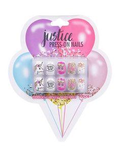 Balloon Glitter Press On Nails