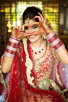 "Romesh Dhamija Productions ""The Bridal Diaries !"" Weddig Bridal Lehenga - Bride in Amazing Saree Gown. Indian Bride Photography Poses, Indian Bride Poses, Indian Wedding Poses, Indian Bridal Photos, Wedding Couple Poses Photography, Indian Bridal Fashion, Bridal Photography, Sikh Bride, Indian Weddings"